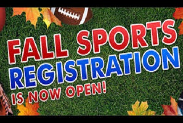 Fall Sports Registration Due Friday, August 7, 2020