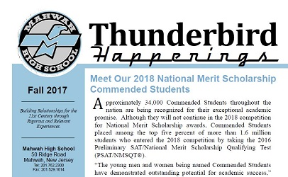 Thunderbird Happenings Newsletter- Fall 2017