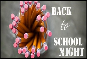 Back to School Night - Thurs., Sept. 27th   6:45 PM